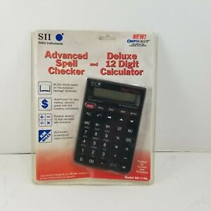 SC-1150 Seiko Instruments SII Advanc Spell Checker & 12-digit Calculator