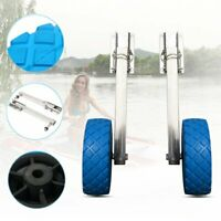 Portable Fold Launching wheels Stainless Steel For Dinghy Inflatable Boat