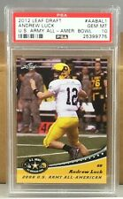 2012 LEAF DRAFT #AABAL1 ANDREW LUCK PSA 10 GEM MINT US ARMY ALL AMERICAN ROOKIE