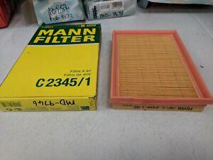 MANN AIR FILTER C2345/1 FITS TOYOTA COROLLA 1.4 1997 - 2000