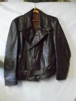 Blouson cuir marron pilote Allemand années 1950