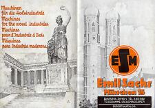 Bayern München Emil Sachs Holz Industrie Werkzeug Maschinen Export Katalog 1950
