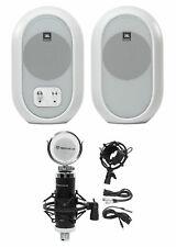 Pair JBL 104 Powered Studio Monitors w/Bluetooth+Recording Microphone 104SET-BTW