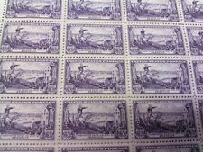 U.S. 3 CENT POSTAGE STAMPS WASHINGTON SAVES HIS ARMY 1951 VINTAGE Sheet of 50