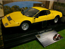 FERRARI 365 GTB4/BB jaune/noir 1/18 d KYOSHO 08173Y voiture miniature collection