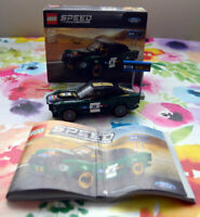LEGO Speed Champions Ford Mustang Fastback 1968 et Notice Numéro 75884 TBE