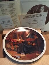 """Norman Rockwell Mother's Day 1979 """"Reflections"""" Collectors Plate Nib With Coa"""