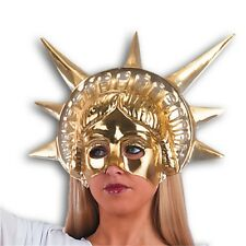 Mask Face Theatre Statue Of Liberty Gold - Body Paint Makeup Golden Plastic