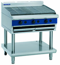 Blue Seal G596 LS 900mm Gas Chargrill - Leg Stand - VAT inclusive price
