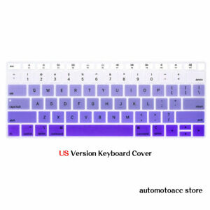 Multicolor Silicone Keyboard Cover For Macbook Pro 16 15.4 Air 11.6 12 13.3 inch