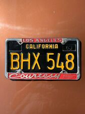 1959 Volkswagen VW Bubblehead Vintage California License Plate Frame BUG BUS T-3