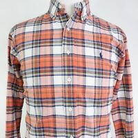 POLO RALPH LAUREN CLASSIC FIT LONG SLEEVE PLAID BUTTON DOWN SHIRT MENS SIZE L