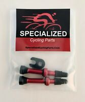2 Specialized Cycling  Tubeless Presta Valve Stems  lite Alloy  40mm Red