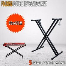 Keyboard Stand Height Adjustable Folding Music Piano Double Braced X Type
