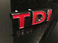 (LIMITED) TDI RED FRONT GRILLE BADGE EMBLEM for ALL VOLKSWAGEN VW CAR EXTERIOR