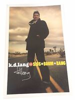 K.D. Lang Siss Boom Bang Signed Autographed Wall Poster New Official Rare