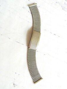 VTG USSR SLAVA Mesh 18mm Mens Band Metal Bracelet for wristwatch Stainless Steel