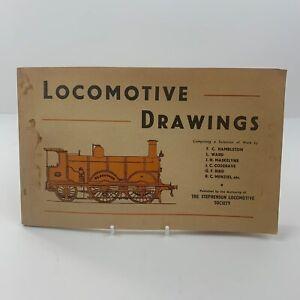 Locomotive Drawings - Stephenson Locomotive Society Vintage Book Paperback 1960s