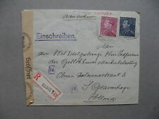 BELGIUM, censored R-cover to the Netherlands1942