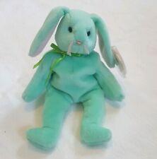 Ty Beanie Baby RARE 1996 Green Bunny Rabbit Hippity Tag Errors PVC Pellets