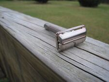 Gillette 1964 Silver Tone Flare Tip Super Speed DE Safety Razor (J-4)