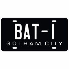 BATMAN VANITY LICENSE PLATE BATMOBILE SUPERMAN DAWN OF JUSTICE BAT 1 V SUPER MAN