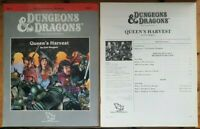 Queen's Harvest BD&D Basic D&D TSR 9261 B12 Module Adventure RPG 1989 Rare