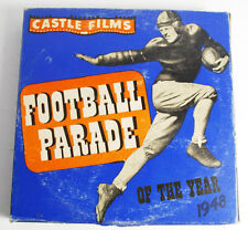 Vintage B/W Sound 400' 16mm Castle Films Sport Football Parade 1948