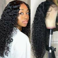100% Brazilian Human Hair Deep Curly Wave Wig Full Lace Front Wig Black Women Yv