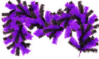 6FT Purple and Black Christmas Brush Garland Shiny Purple Tinsel Branch Outdoor
