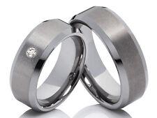 2 wolframio anillos de Boda compromiso Con Grabado