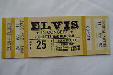 ELVIS__1977__UNUSED__CONCERT TICKET__Rochester, NY__EX++