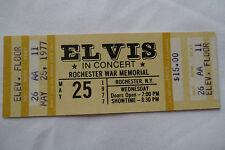 ELVIS__1977__UNUSED__CONCERT TICKET__Rochester, NY__EX++