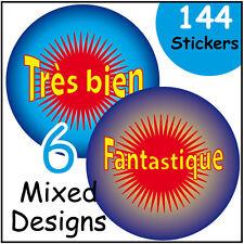 French Teachers Language Praise Teachers reward labels - Round