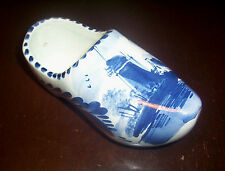 DELFT BLUE Netherlands Holland Dutch Shoe Planter Classic Windmill Scene Delfts