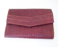 Genuine Leather Burgandy Clutch Women Wallets