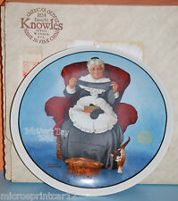 """Mending Time"" 1985 Mother's Day"" Series Collectors Plate by Norman Rockwell"