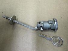 CADILLAC TRUNK LOCK CYLINDER w/ KEY, OE BEVELED for use with  rivet type emblem