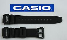 CASIO AQW-101 18mm Original Black Rubber Watch BAND Strap