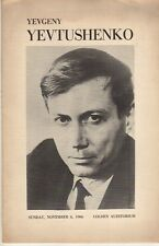 Yevgeny Yevtushenko Program Poetry Reading 1966 Queens College