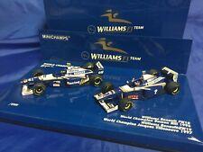 MINICHAMPS Damon Hill 1996 & Jacques Villeneuve 1997 1/43 WORLD CHAMPIONS SET