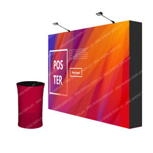 10ft Pop Up Stand Trade Show Displays Booth Back Wall with Custom Graphic Print
