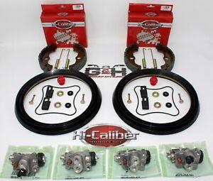 FRONT BRAKE REBUILD KIT Shoes Wheel Cylinders Hardware Honda TRX 400 450 Foreman