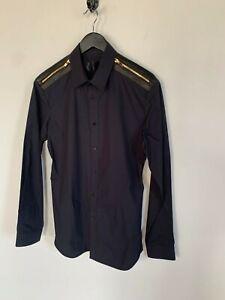 Juun.J Black Zippered Detail Button Down Shirt