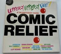 Comic Relief Utterly Utterly Live Vinyl Album Record Disc LP Gatefold 1986