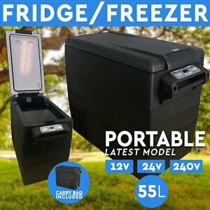 55L Portable Fridge Freezer 12V/24V/240V  For Camping Car Boating Caravan Bar