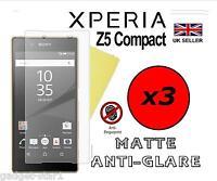 3x HQ MATTE ANTI GLARE SCREEN PROTECTOR COVER GUARD FOR SONY XPERIA Z5 COMPACT