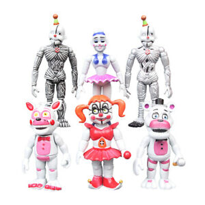 Five Nights at Freddy's Sister Location Figures Baby FNAF Toys 6Pcs/Set Gift New