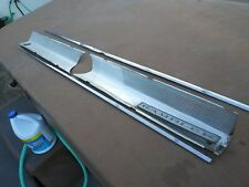 AMC 1968 Rambler American 440 Rear Trim Four Piece Set Aluminum Used Fair Shape