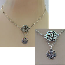 Celtic Scottish Thistle Pendant Necklace Jewelry Handmade NEW Silver Accessories